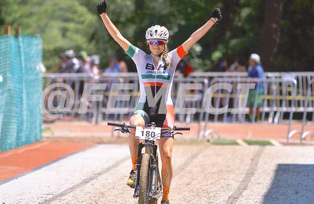 ABSOLUTA dominadora, Daniela Campuzano, en la meta. Foto: Sol de Hidalgo.