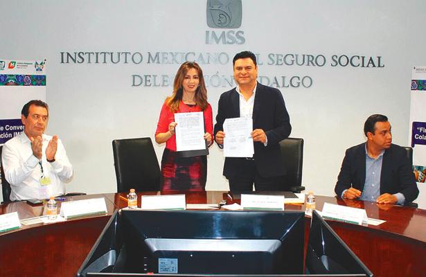 Sedeso e Imss  firmaron convenio de colaboración