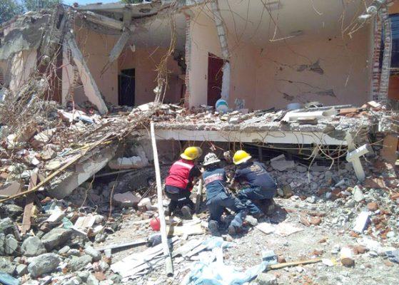 Apoyo a damnificados de sismo