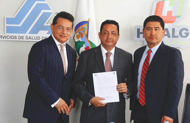 El secretario de Salud de Hidalgo, Marco Escamilla, presentó a los nuevos titulares
