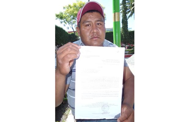 Víctima de robo pide ayuda de autoridades