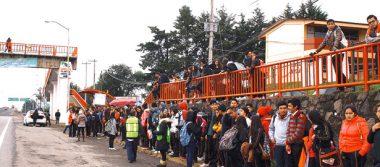Desalojo masivo en CECyTEH en Omitlán