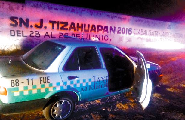 Asesinaron a taxista