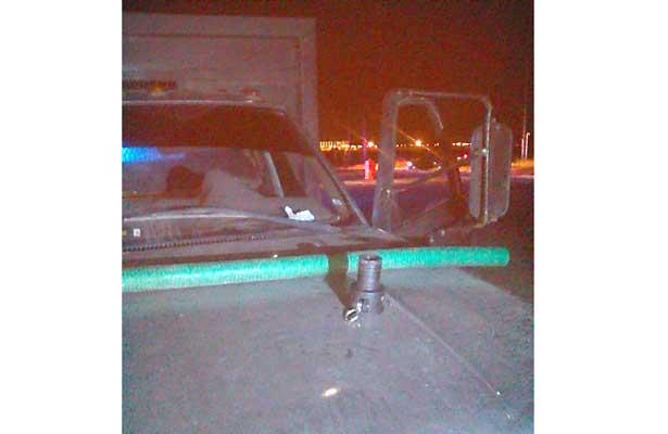 CAMIONETA Chevrolet asegurada por agentes de la Policía Estatal. Foto: Sol de Hidalgo.