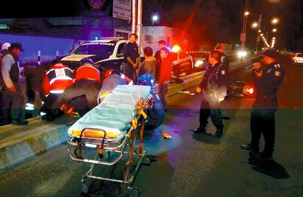 Motociclista tuvo fuerte accidente