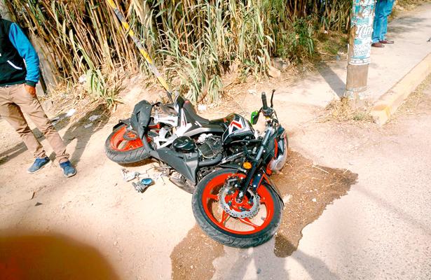 Accidente  deja persona herida  y daños