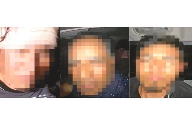 RICARDO, Israel y Juan Carlos fueron detenidos por agentes de la UECS, imputados como probables responsables de secuestro y homicidio. Foto: El Sol de Hidalgo.