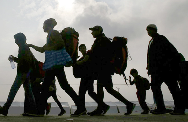 Sin freno  avalancha  migrante
