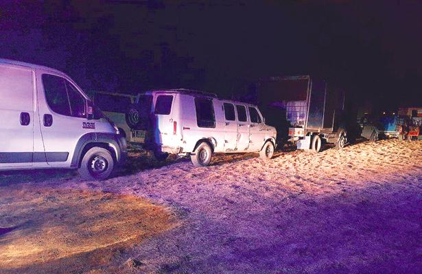Uniformados recuperan nueve vehículos cerca de ductos