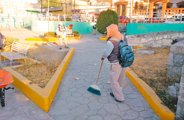 Mejoran la imagen urbana de colonias de Pachuca