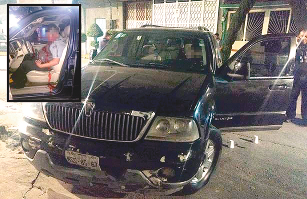 Crimen de 3 balazos en auto de lujo