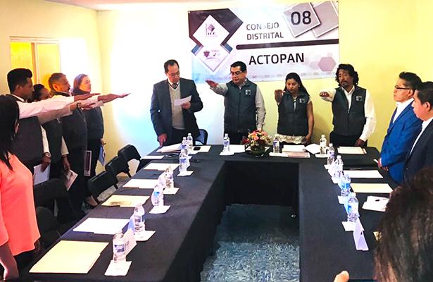 Instalan consejo distrital del IEEH en Actopan