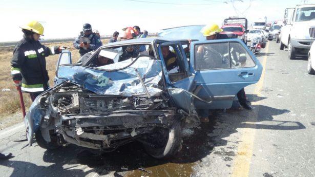 Policía provoca accidente en el bulevar Las Torres