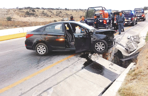 Racha de accidentes en la región