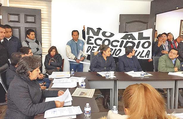 Ecologistas exigen parar obra del río