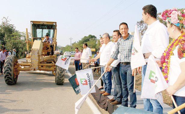 Omar Fayad: con obras que benefician, Hidalgo crece