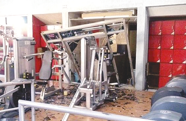 Acumulamiento de gas mandó a volar un gym