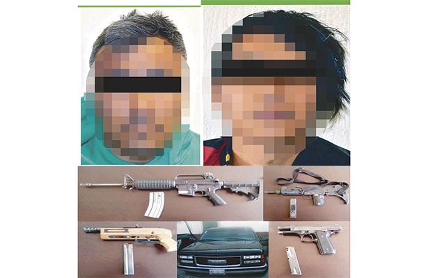 Detenidos con armas de alto poder, en coche