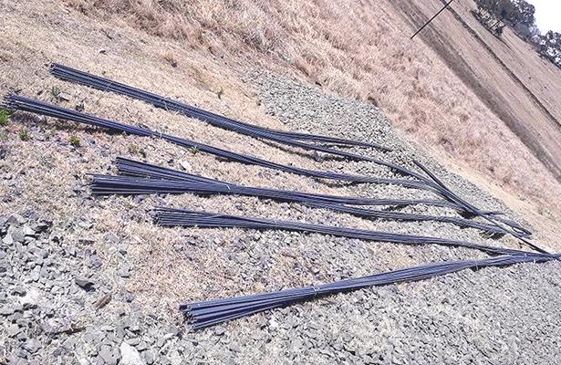 Abordaron tren para robar varilla, pero los cacharon