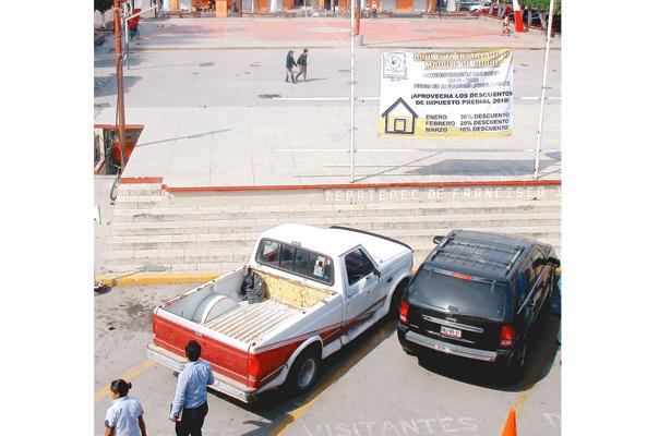 Zona Centro del municipio Francisco I. Madero. Foto: Alma Leticia Sánchez.