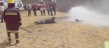 Gaseros instruidos para usar  extinguidores y apagar incendios