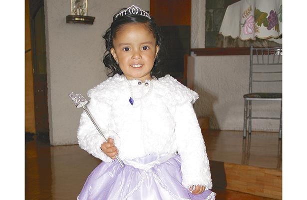 Diana Itzel Bringas Romero, cumplió tres años