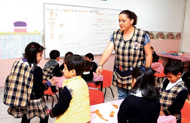 Los maestros están en paz en las aulas