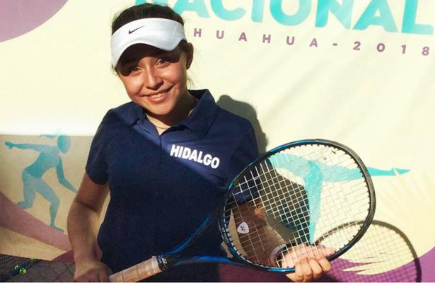 Fernanda Castillo, bronce en tenis. / Foto: Especial.