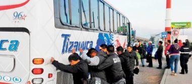 Operativos contra asaltos a pasajeros