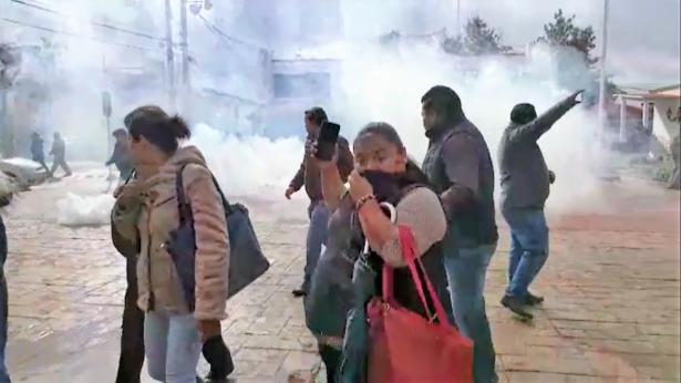 [Vídeo] Se tensa huelga en Mineral de la Reforma