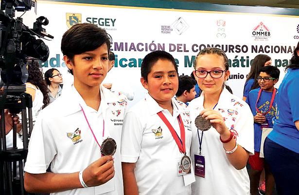 Destacan hidalguenses en Olimpiada Mexicana de Matemáticas