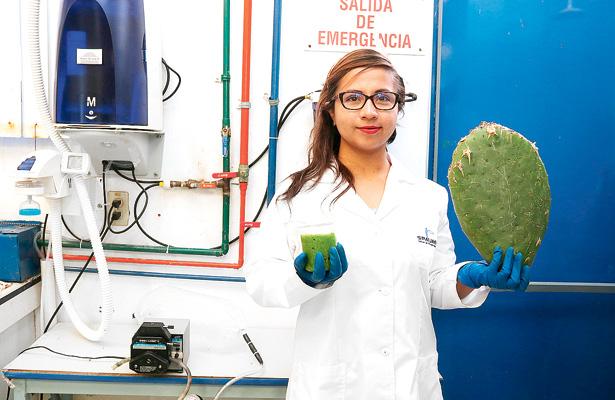 Alumna de UAEH gana concurso nacional por estudio sobre nopal