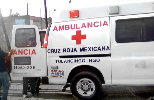 Persona lesionada al ser impactada por una llanta
