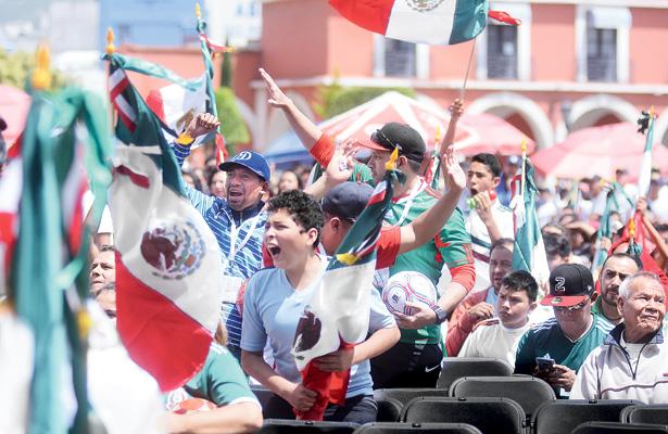 Pachuqueño celebran triunfo de la selección mexicana