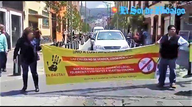 [Vídeo] Vecinos del Jardín Colón,  piden se retiren parquímetros