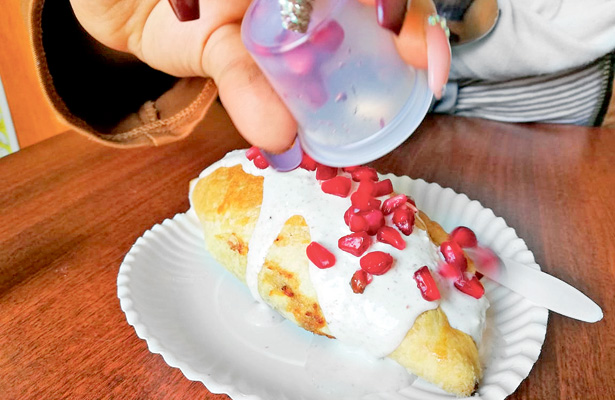 El tradicional paste con un toque patrio
