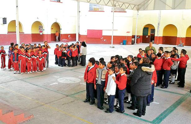 Simulan evacuación en la primaria Pedro María Anaya