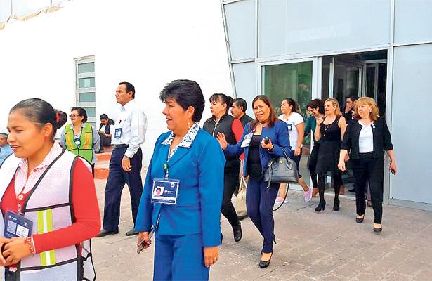 Mega simulacros en Pachuca, en memoria del 19 de septiembre