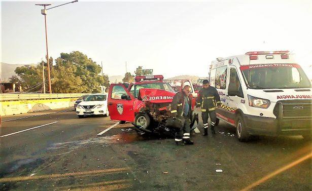 Bomberos de Actopan se accidentan en el Estado de México