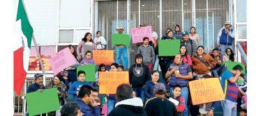 Taxistas de Tizayuca se manifiestan en Gobierno