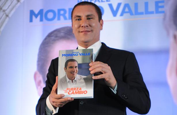 Rafael Moreno Valle, abierto a un Gobierno de coalición; presenta libro