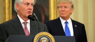 """Tillerson habla con Trump antes de """"significativo"""" viaje a México"""