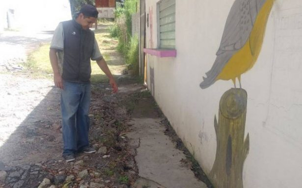 Falla geológica afecta casa en Hidalgo