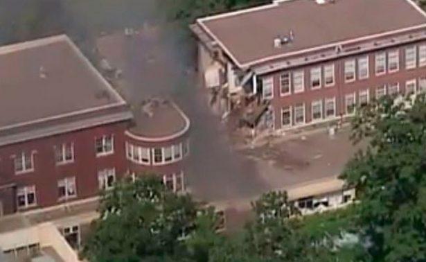 Explosión provoca derrumbe e incendio en escuela de Minneapolis; hay un muerto