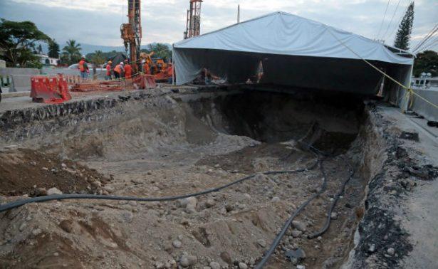 SCT de Morelos realiza recorrido en el área del socavón