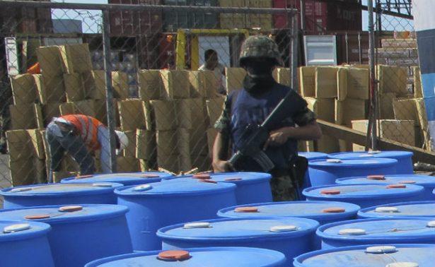 Marina asegura 18 toneladas de precursor químico