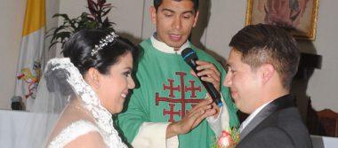 Ruth y Oswaldo se unieron en matrimonio