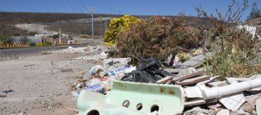 En tiradero de escombros se han convertido terrenos rumbo al Cuarto Cinturón Vial