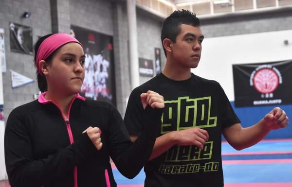 Dafne González y Oscar Lara van a representar a México en el Campeonato Centroamericano y del Caribe en Venezuela. Foto: Víctor Cruz / El Sol de Irapuato