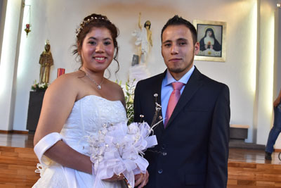 Contraen matrimonio Diana y José Luis